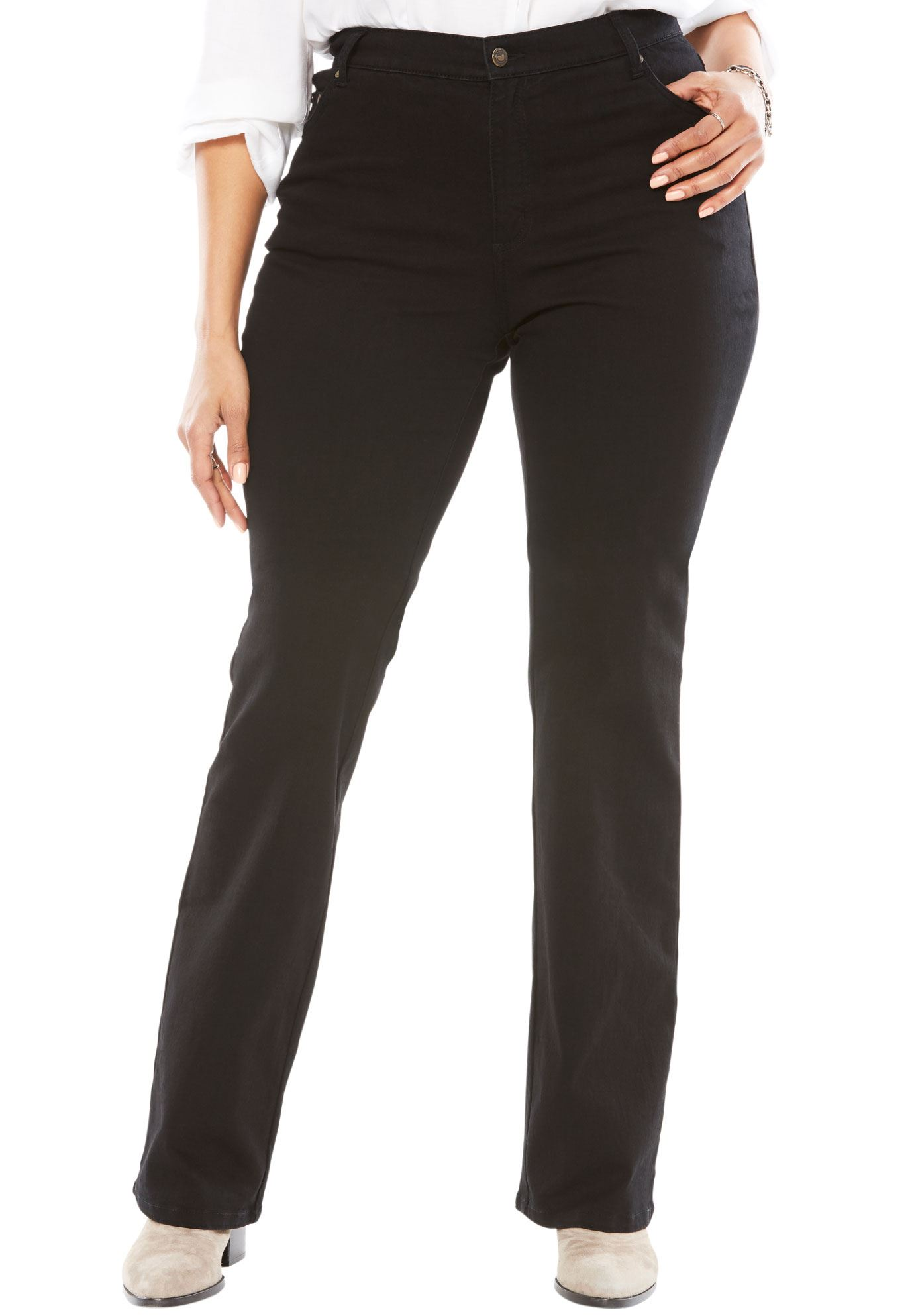 Woman Within Plus Size Bootcut Stretch Jean