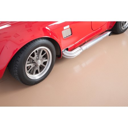G-Floor 55 Mil Ribbed 8.5'x22' Sandstone Parking Pad Garage Floor Cover/Protector Garage Floor Cover