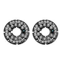 30 LEDs 850nm IR Infrared Board 60 Degree Round Plate IR Illuminator Board Bulb for CCTV Security Cameras 2pcs - White