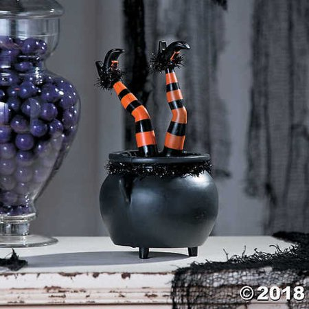 Tabletop Kicking Witch Legs Halloween Décor - Kick Buttowski Halloween