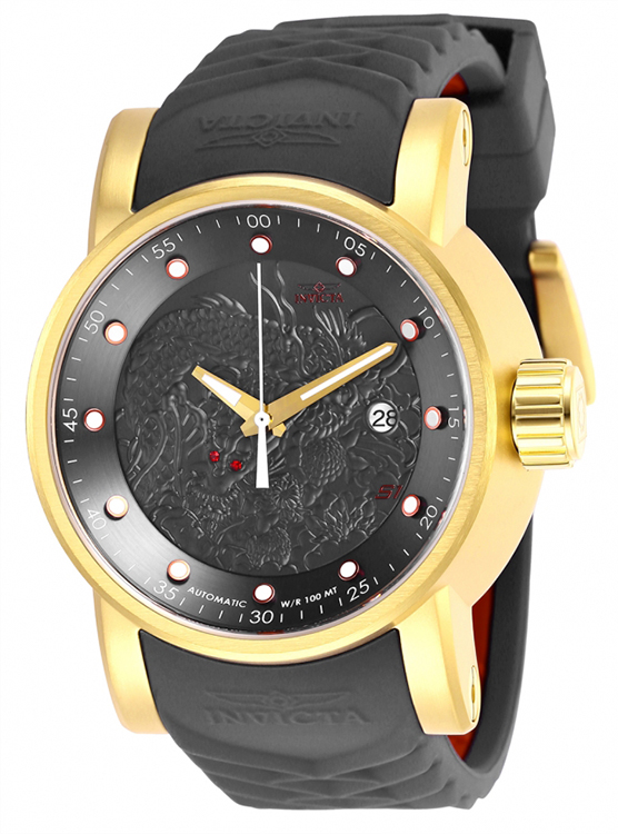 Invicta Men's S1 Rally Automatic 100m Stainless Steel/Grey Silicone Watch 28180