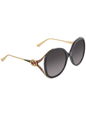 4cf79986a57 Product Image GUCCI GG0226S 001 Black Oversized Round Sunglasses