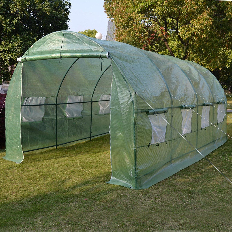 20'X10'X7' Walk-In Greenhouse Outdoor Plant Gardening Greenhouse