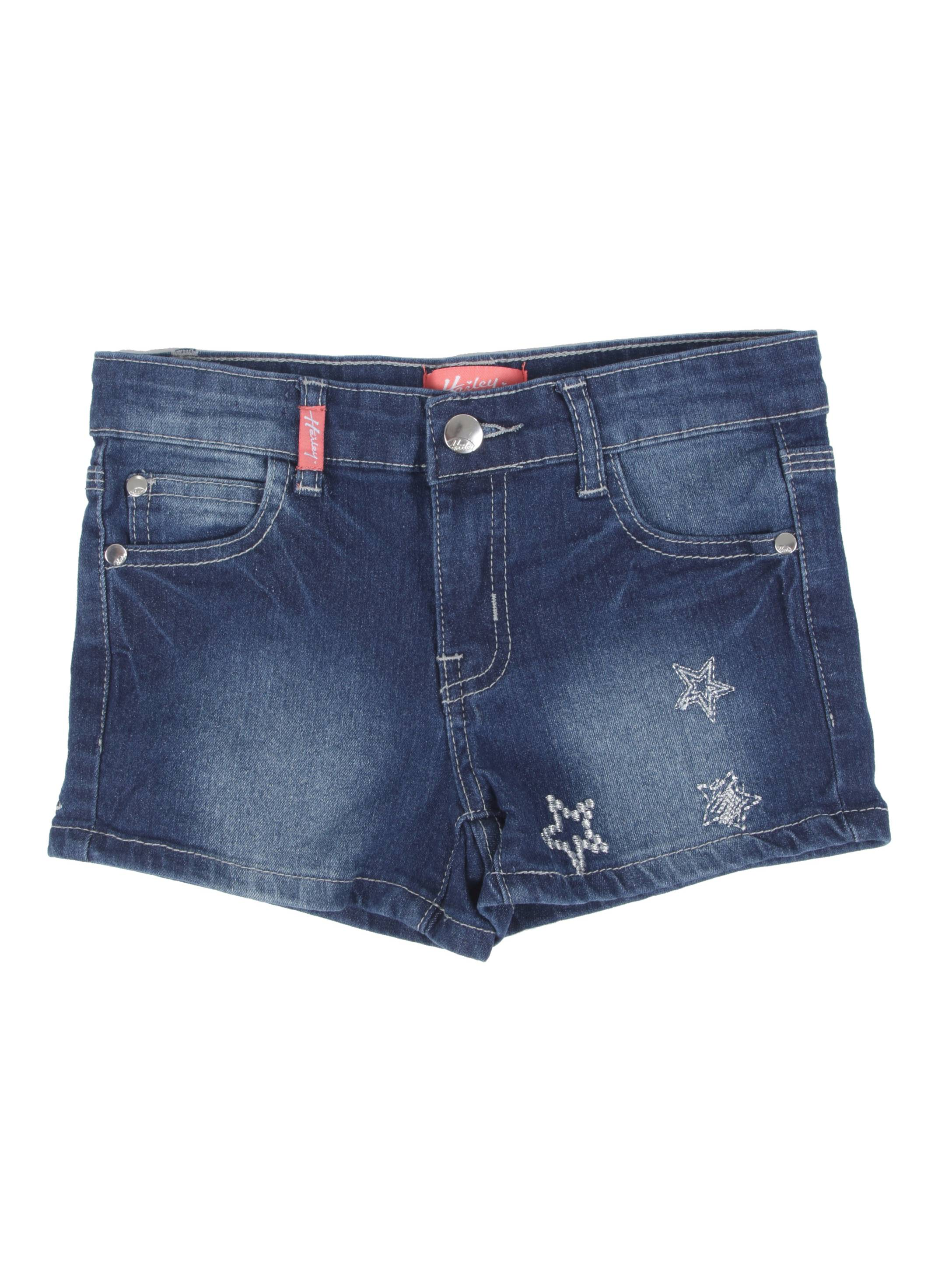 9H068(SH) - Girls Stretch 5 Pockets Premium Shorts with Embroidery