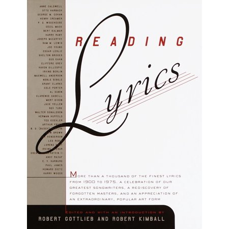 Reading Lyrics : More Than 1,000 of the Twentieth Century's Finest Song Lyrics - Halloween Songs For Children Lyrics