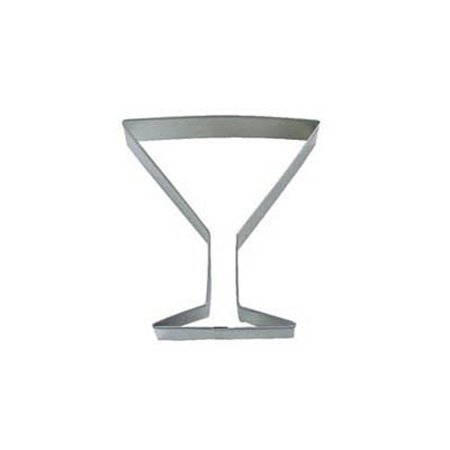 Martini Glass Cookie Cutter, 4-Inch, High quality, steel cookie cutters in over 1000 designs By Dress My