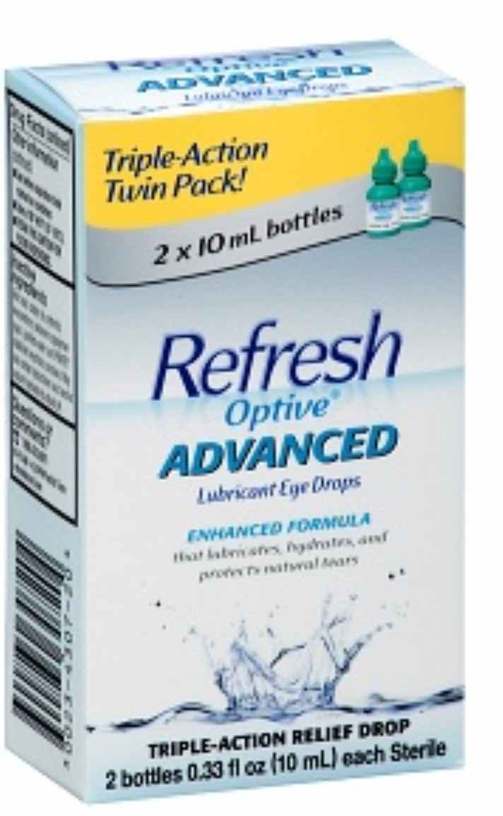 6 Pack REFRESH Optive Advanced Lubricant Eye Drops 0.66 fl oz (2 x 0.33 fl oz) by