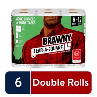 Deals on Brawny Tear-A-Square Paper Towels, 6 Double Rolls