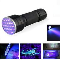 UV Flashlight Pet Urine Detector Light Handheld Flashlight Black light UV Lights 24 LED Ultraviolet Blacklight For Dog Cat Urine Dry Stains Bed Bug (Black)