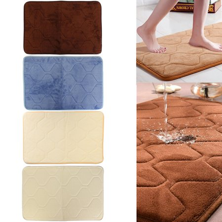 Memory Foam Rug Bath Mat Shower Carpet Bathroom Bedroom Non-slip Mats Absorbs Water Quickly & Fast Drying Home 24