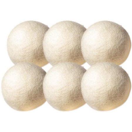 OxGord Wool Non-Toxic Reusable Dryer Balls (Set of 6)](Wooly Balls)