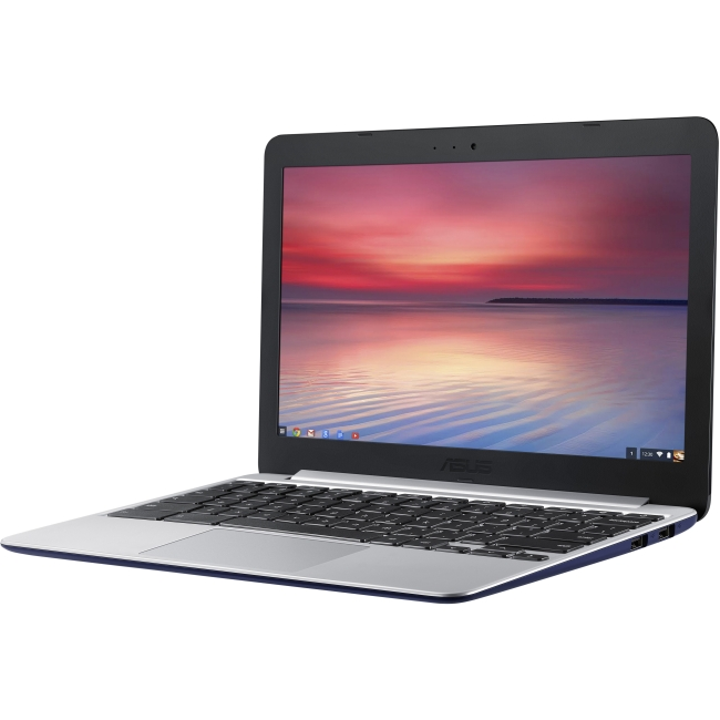 "Asus C201PA-DS01 Asus Chromebook C201PA-DS01 11.6"" Chromebook - Rockchip Cortex A17 RK3288 Quad-core (4 Core) 1.80 GHz - Navy Blue - 2 GB LPDDR3 RAM - ARM Mali-T764 - Chrome"