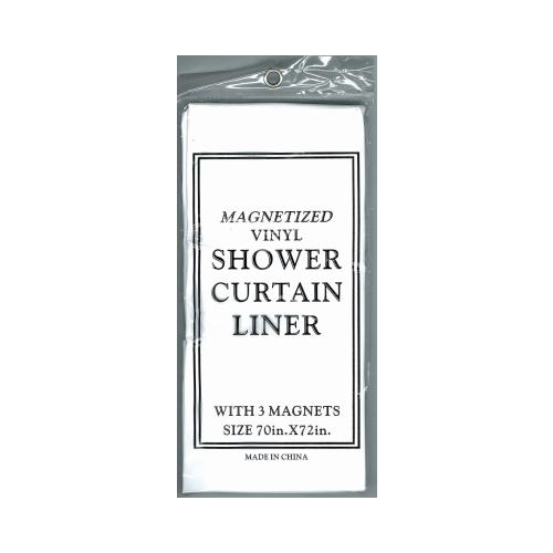 Magnetic Shower Liner Color: White