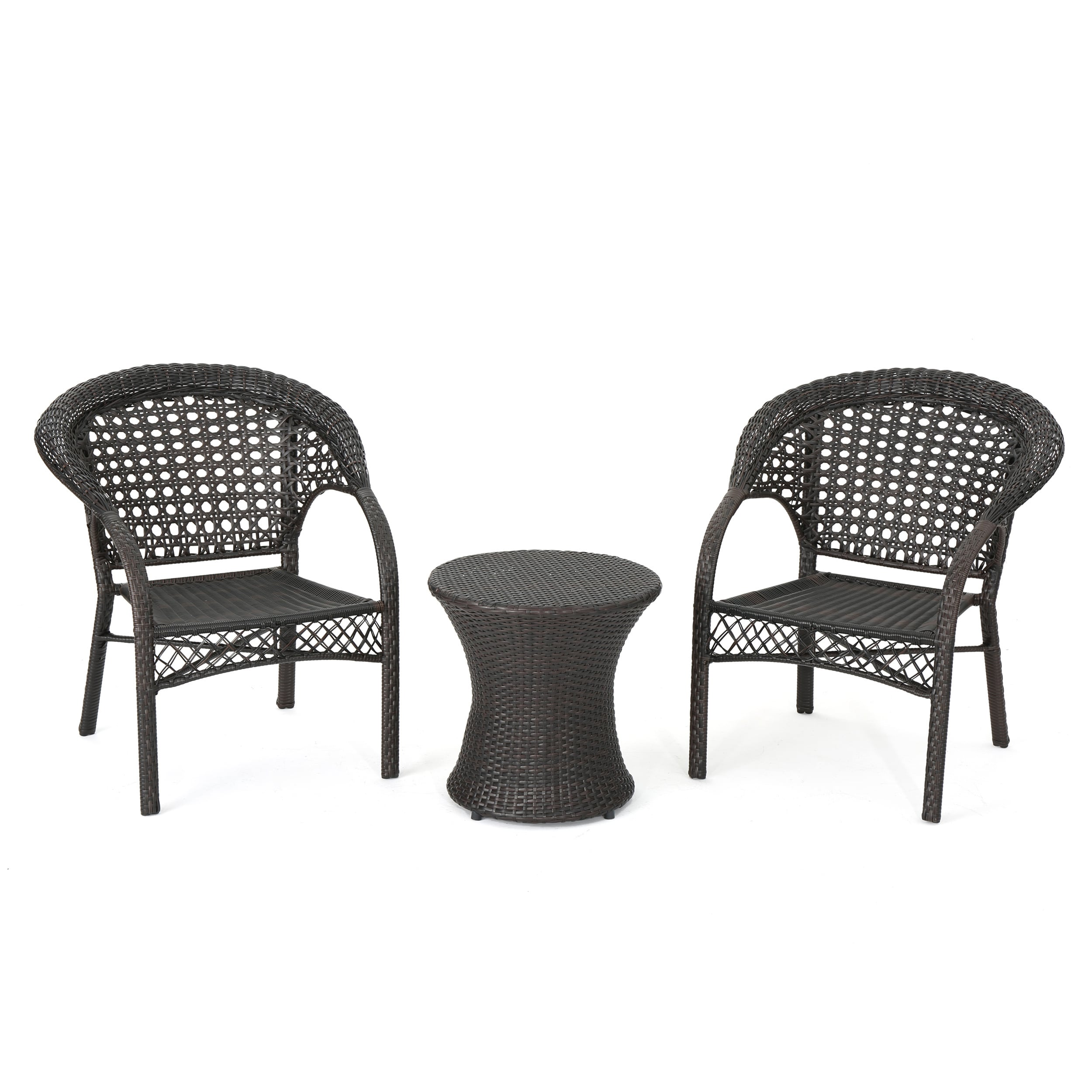 Cool Monroe Wicker 3 Piece Outdoor Stacking Chair Chat Set Gmtry Best Dining Table And Chair Ideas Images Gmtryco