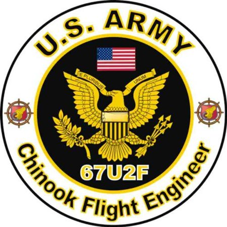 "United States Army MOS 67U2F Chinook Flight Engineer Decal Sticker 3.8"""