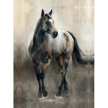 Copper and Nickel Neutral Equestrian Horse Painting Print Wall Art By Marilyn Hageman
