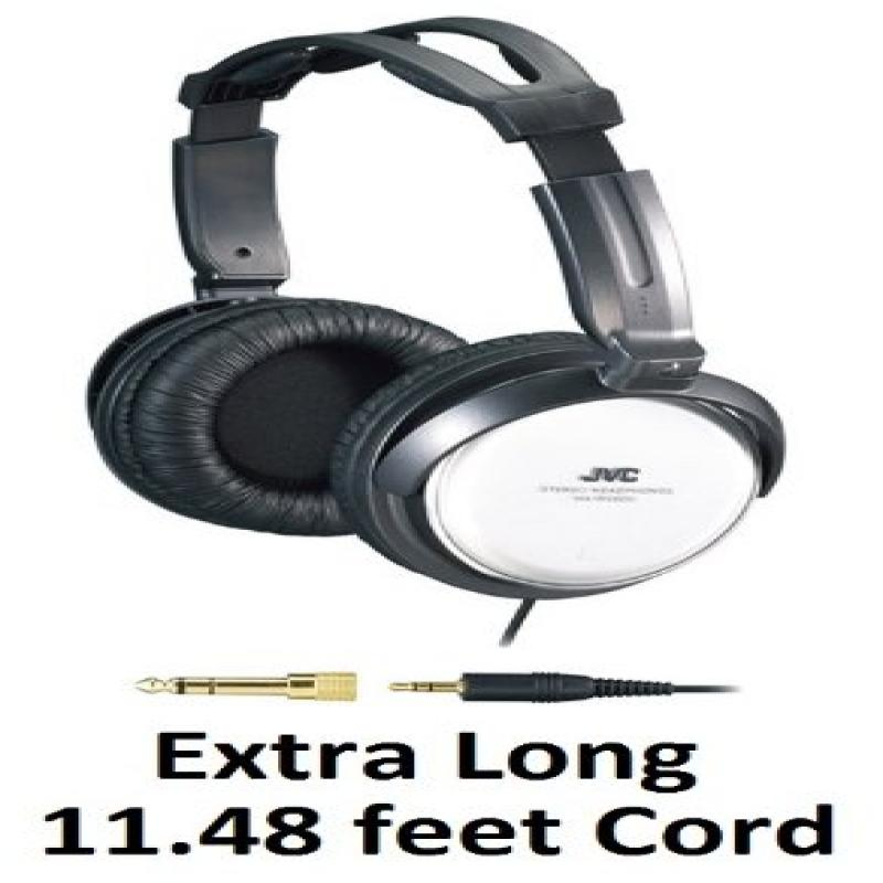 JVC Over-the-Ear Comfortable Stereo Headphones with Extra...
