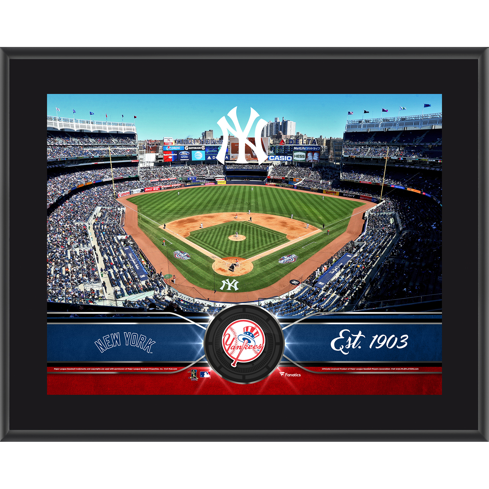 "New York Yankees Fanatics Authentic 10.5"" x 13"" Sublimated Team Plaque - No Size"