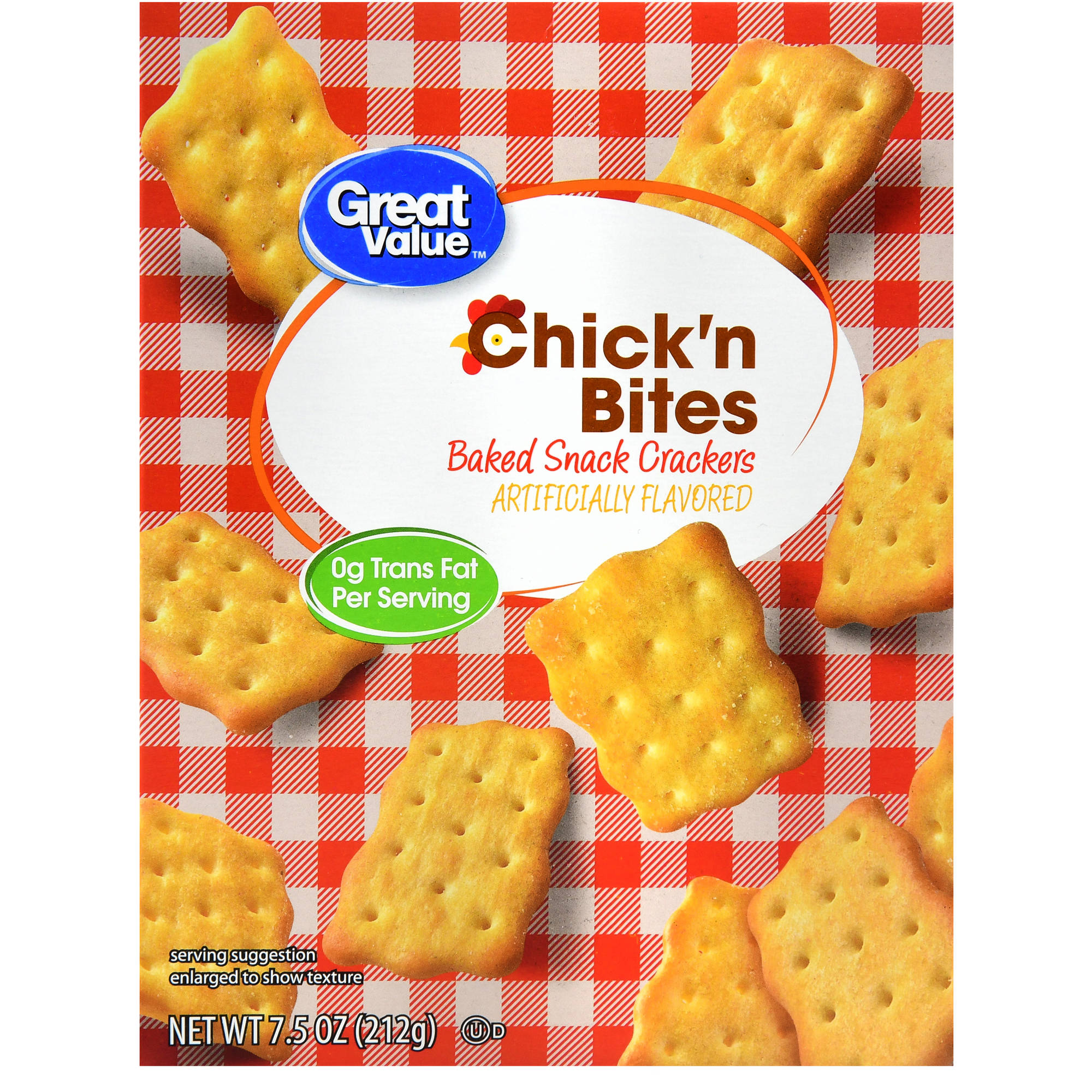 Great Value Chick' n Bites Crackers, 7.5 oz