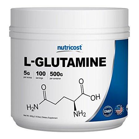 Nutricost L-Glutamine Powder [500 G] - Pure L Glutamine - 5000mg per Serving - 1.1 Pounds - 100 Servings - Highest Purity (Pure Glutamine Powder)