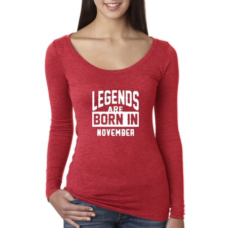 New Way 664 - Women's Long Sleeve T-Shirt Legends Are Born In November Scorpio