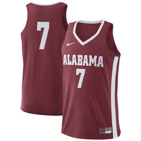 #7 Alabama Crimson Tide Nike College Basketball Replica Jersey - Crimson - Nike Replica Basketball Jersey