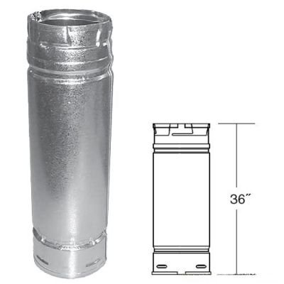 Stone Chimney (Galvalume Pellet Stove Chimney Pipe - 3
