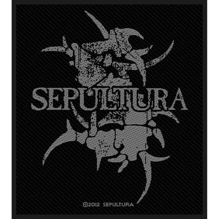 Sepultura Men's Logo Woven Patch Black