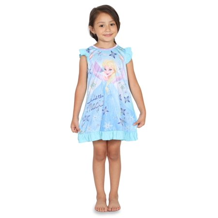 Disney Frozen Little Girls Toddler Blue Nightgown