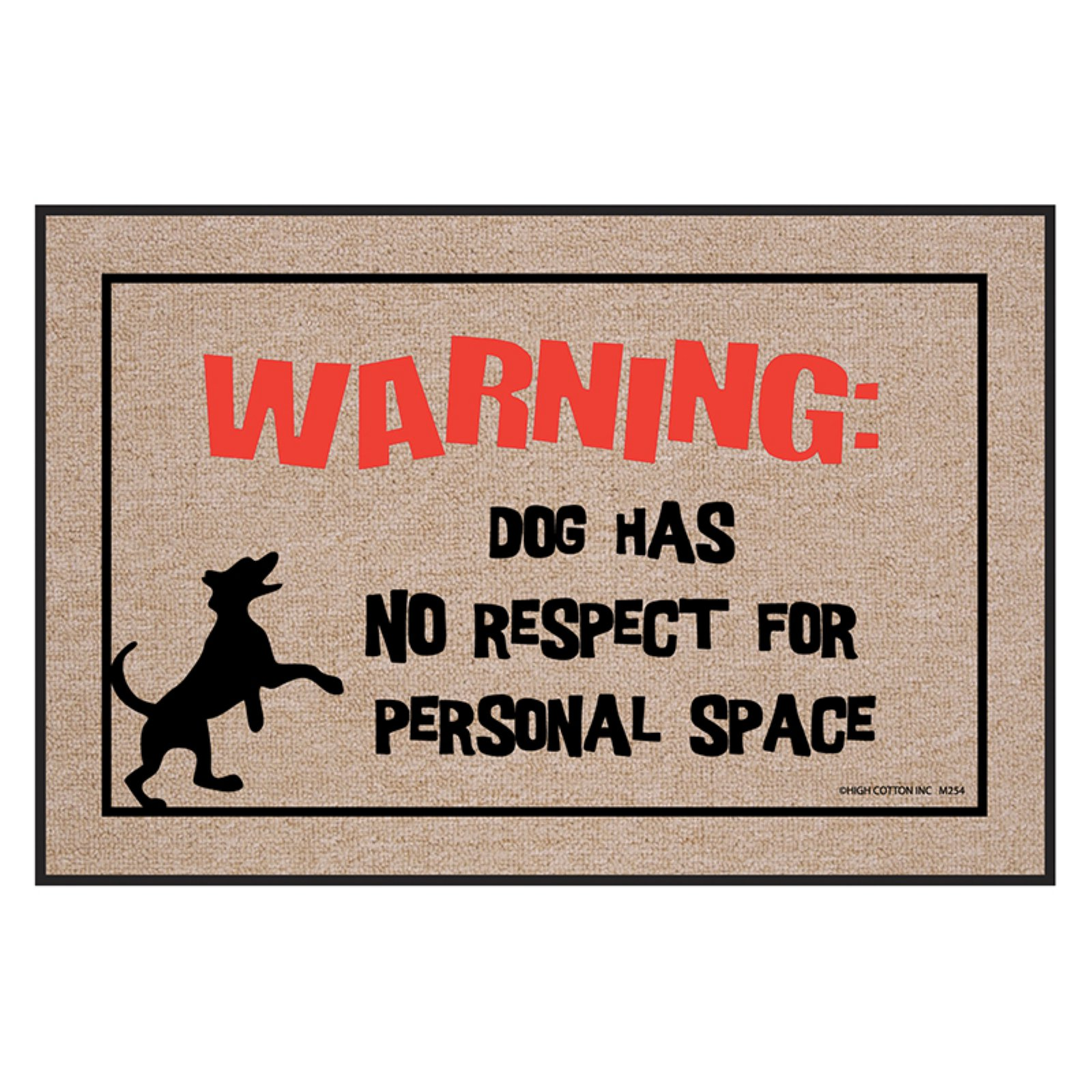 High Cotton Dog Personal Space Indoor/Outdoor Door Mat