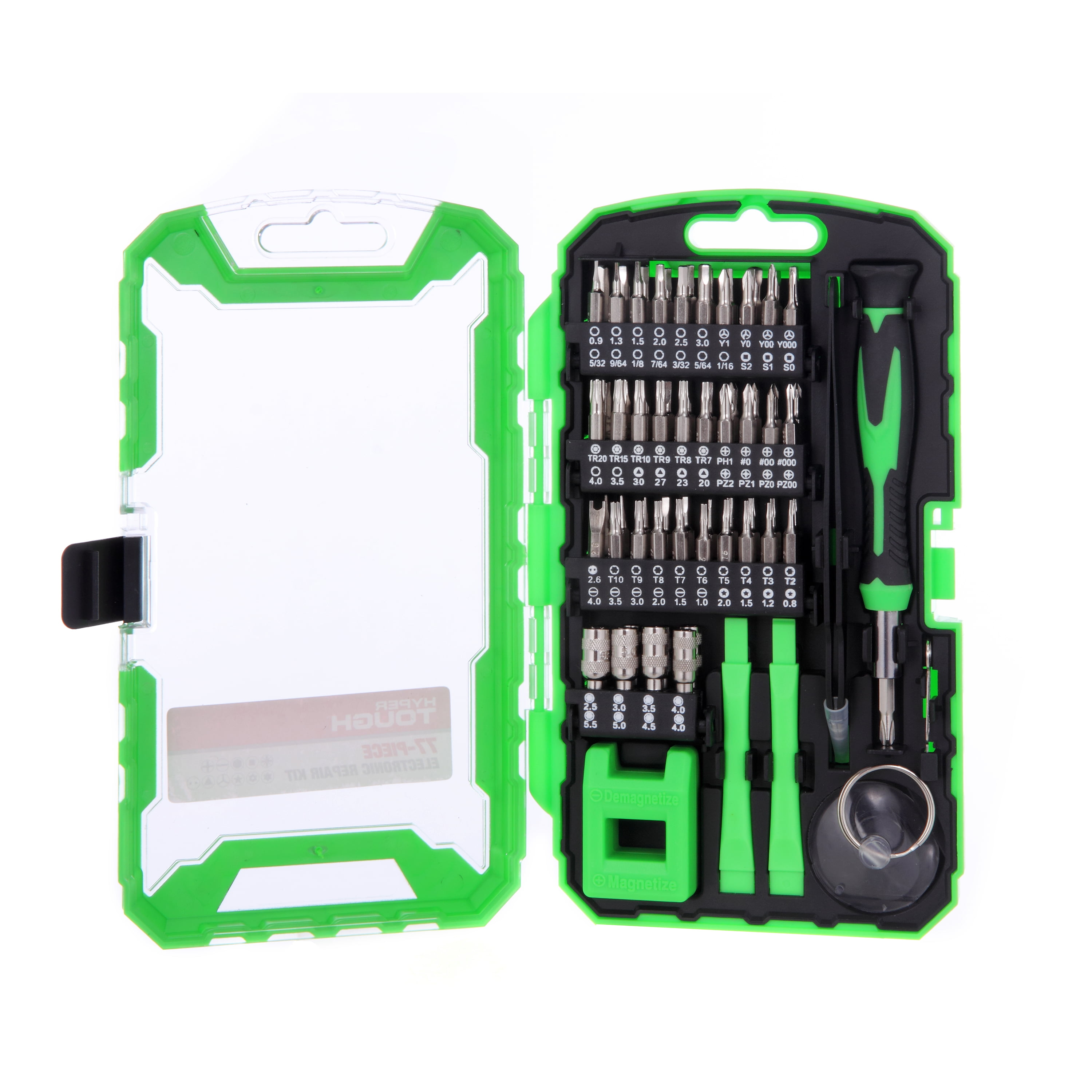 Hyper Tough 77 Piece Computer Repair Kit with Storage Case TS85134A