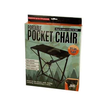 Bulk Buys OC867-2 Portable Pocket Chair with Carrying Case, 2 Piece