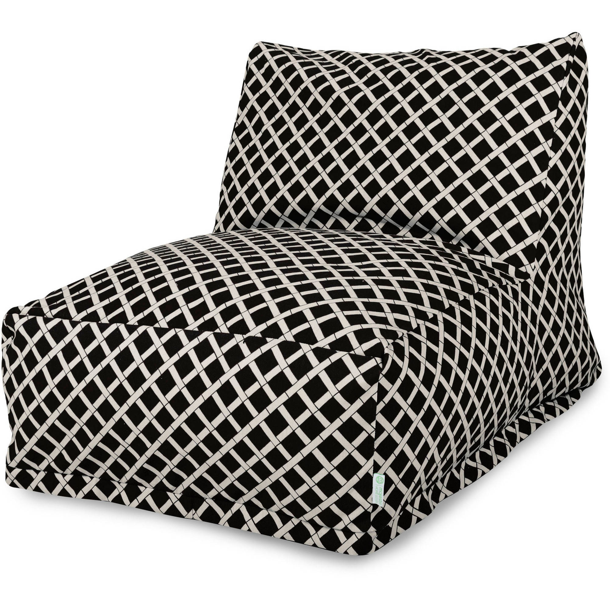 Majestic Home Goods Bamboo Bean Bag Chair Lounger, Indoor/Outdoor