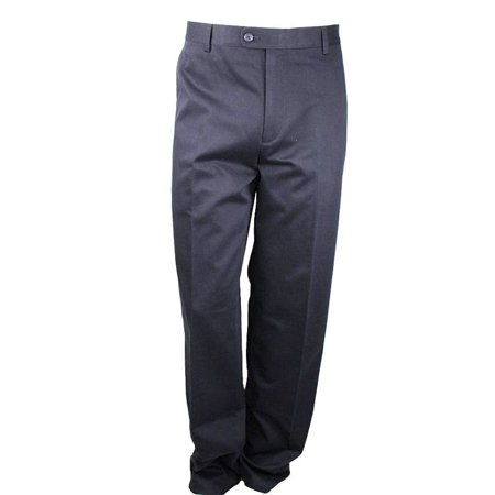 18 Graphite Mens 6 Iron (Kirkland Signature Mens Non-Iron Flat Front Pants (Graphite, 36x30) - NEW )
