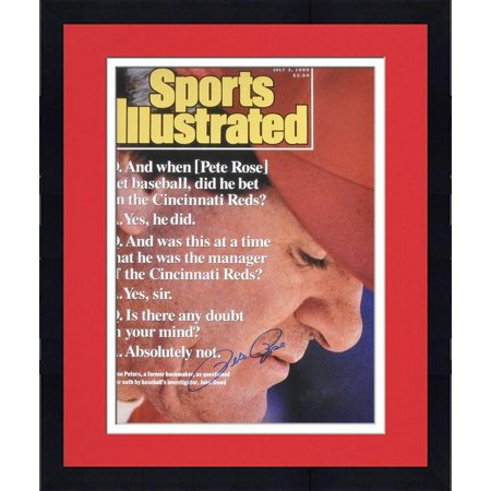 "Framed Pete Rose Cincinnati Reds 1999 Sports Illustrated Cover Autographed 16"" x 20"" Photograph Fanatics Authentic Certified by"