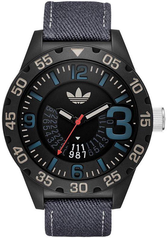 Men's Adidas Newburgh Blue Denim Strap Watch ADH3156 by Adidas