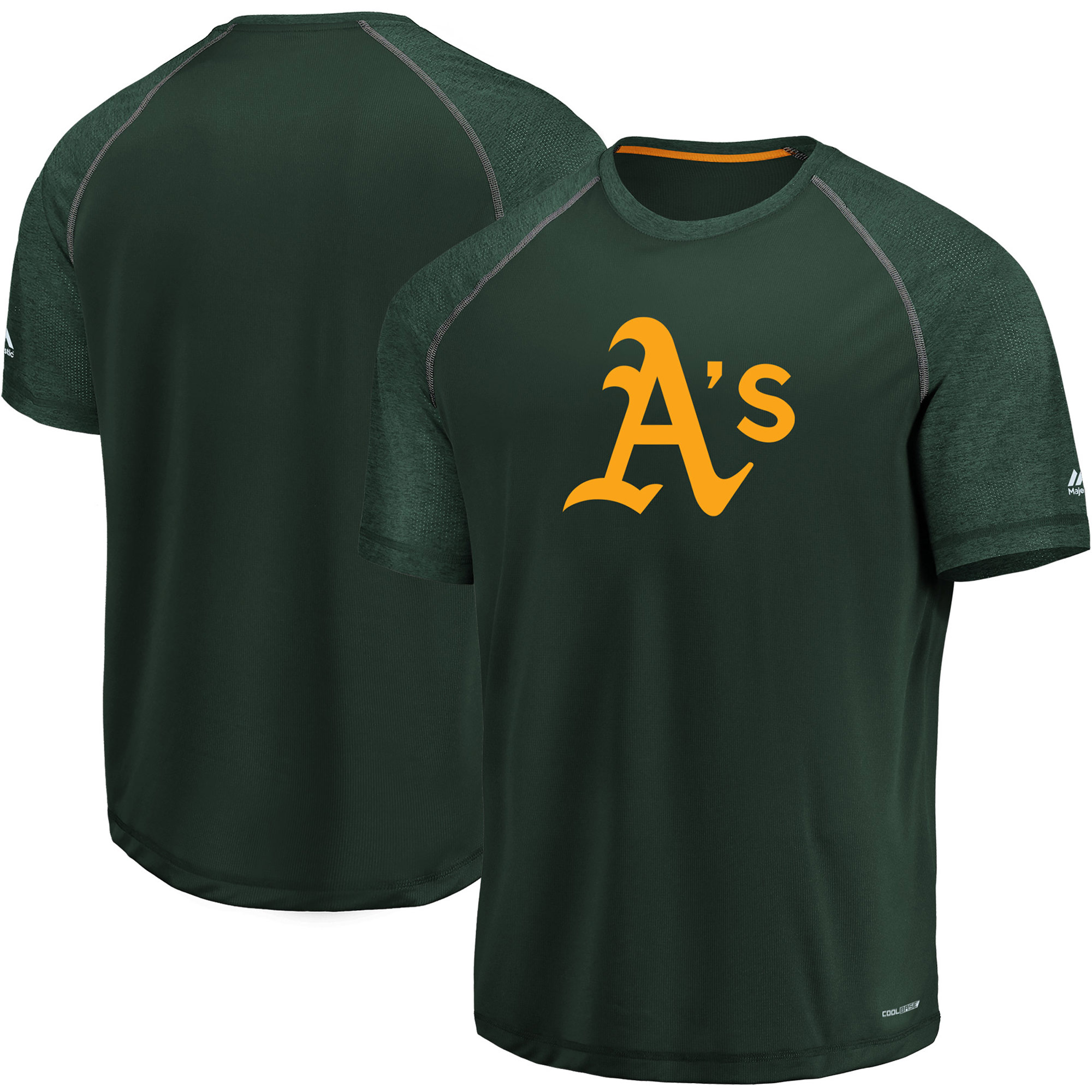 Oakland Athletics Majestic Got the Word Cool Base T-Shirt - Green