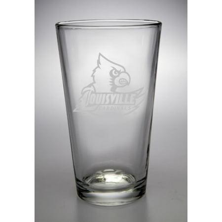 Louisville Cardinals Ncaa Glass (NCAA - Louisville Cardinals 16 oz Deep Etched Pub Pint)
