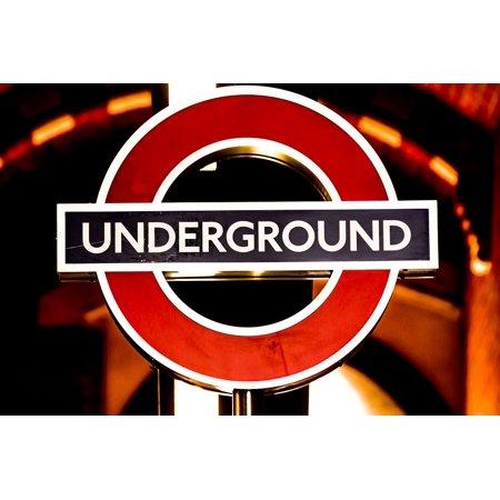 LAMINATED POSTER England London Underground London City Underground Poster Print 24 x 36 - London England Halloween