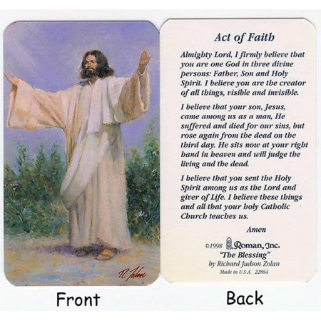 "Club Pack Of 50 ""Act Of Faith"" Religious Prayer Cards - image 1 of 1"