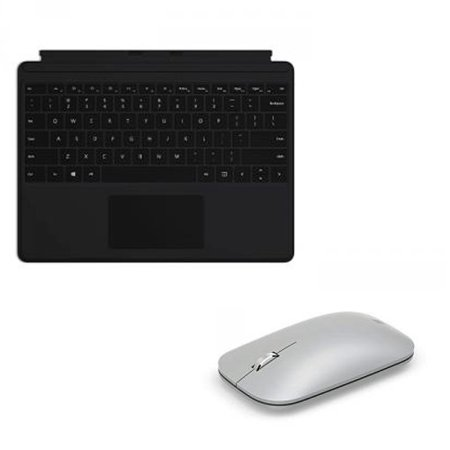 Microsoft Surface Pro X Keyboard Black Alcantara+Surface Mobile Mouse Platinum - Wireless Connectivity - Large glass trackpad - LED backlighting - Bluetooth - Seamless scrolling - BlueTrack enabled