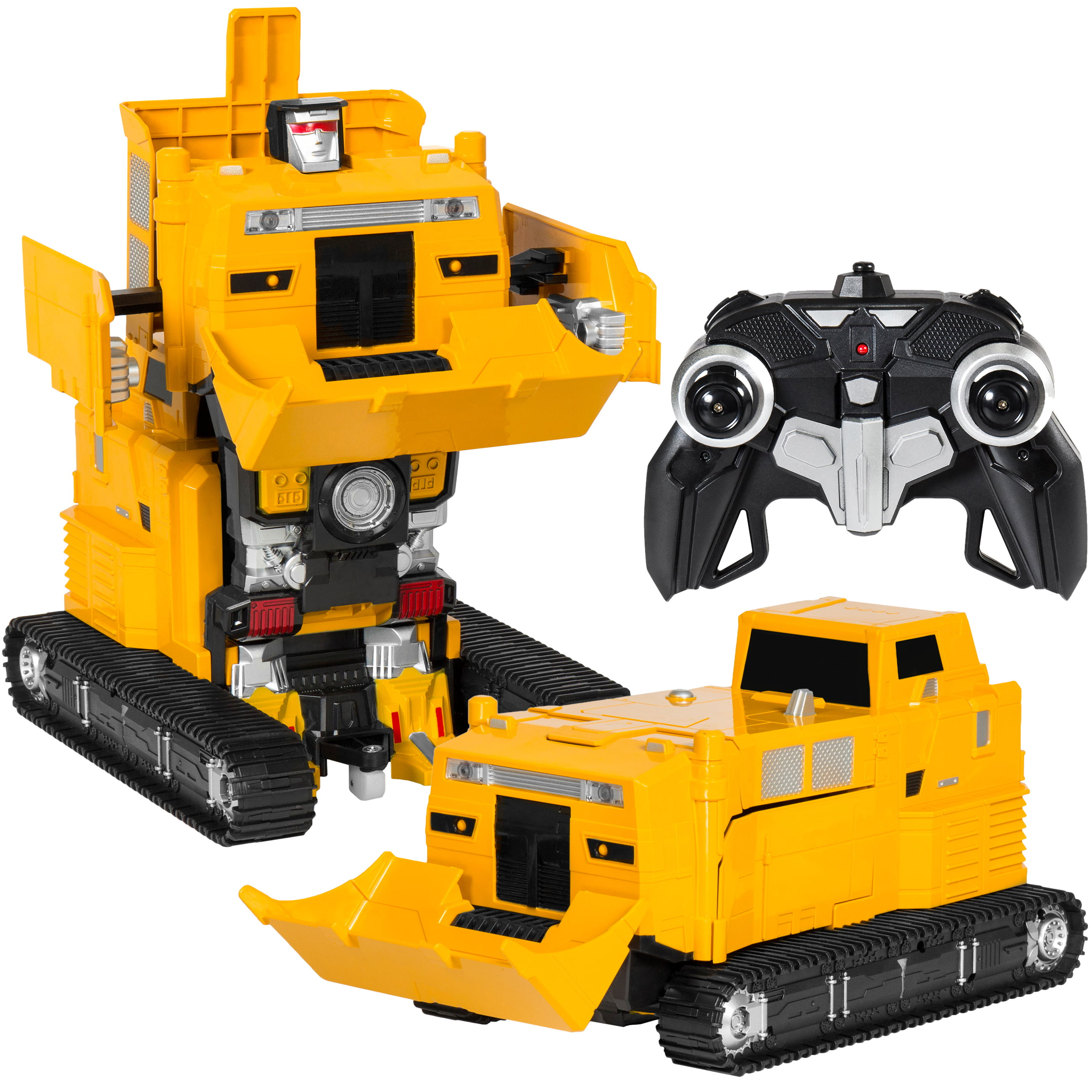 Best Choice Products Toy Transformer RC Robot Pushdozer Remote Control Car Lights And... by Best Choice Products