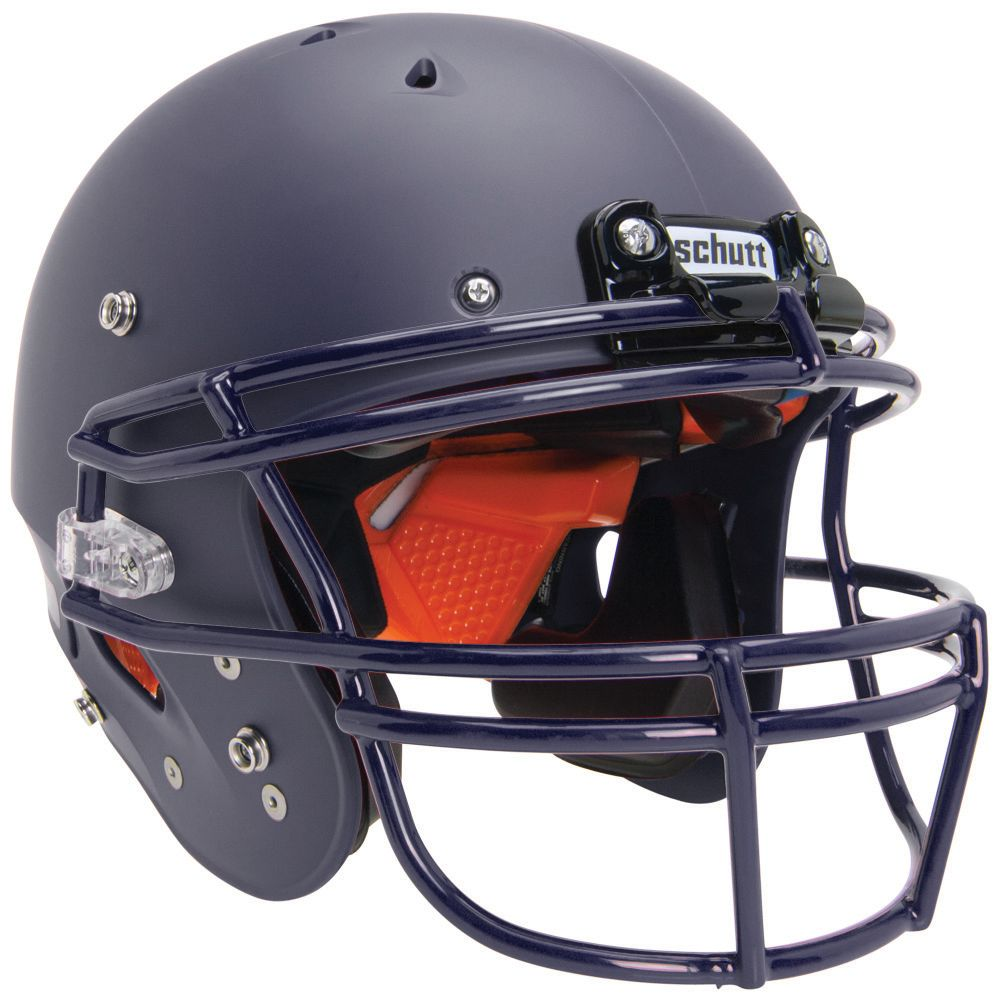 Schutt Youth Recruit R3 Football Helmet w/ DNA Facemask Matte Navy/Navy XS
