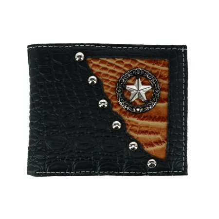 CTM Men's Faux Lizard Print Bifold Wallet with Star Concho - image 4 de 4