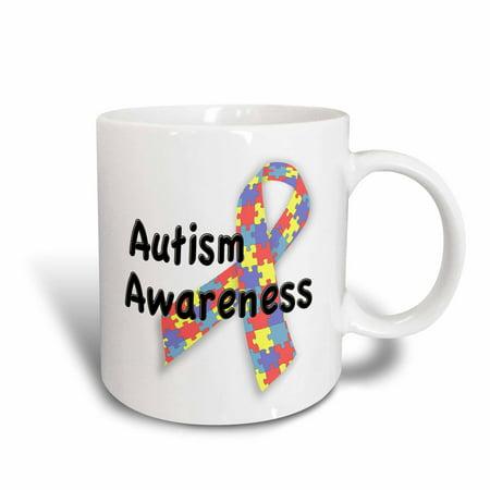 3dRose Autism Awareness, Ceramic Mug, (Awareness Mug)