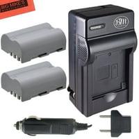 Pack Of 2 EN-EL3e Batteries And Battery Charger for Nikon D90, D200, D300, D300S, D700, Digital SLR Camera