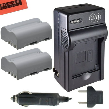 Pack Of 2 EN-EL3e Batteries And Battery Charger for Nikon D90, D200, D300, D300S, D700, Digital SLR Camera (D300 Battery Grip)