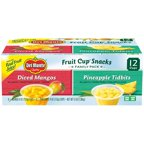 Del Monte® Diced Mangos & Pineapple Tidbits Family Pack 12-4 oz. Cups