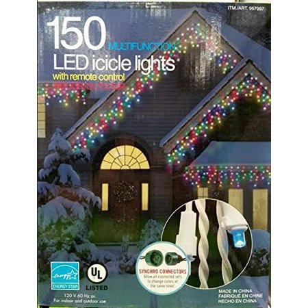 Multicolor Led Icicle Lights With Multifunction Remote