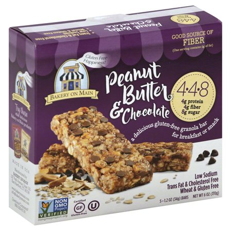 Bakery On Main Granola Bars Peanut Butter   Chocolate   5 Ct